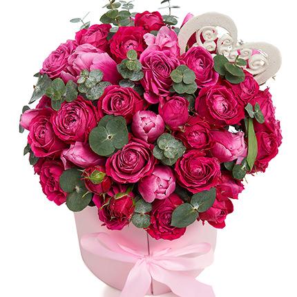 """Цветы в коробке """"Восторг!"""" - заказать с доставкой"""