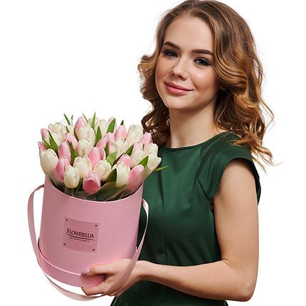 """Квіти в коробці """"Рожева хмаринка"""" - доставка по Україні"""