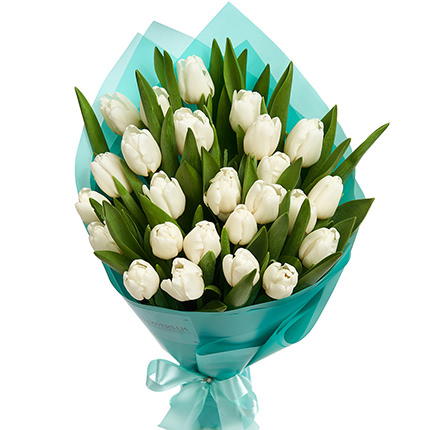 "Bouquet ""25 white tulips"" - order with delivery"