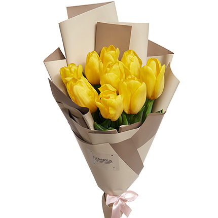 "Bouquet ""9 yellow tulips"" - order with delivery"