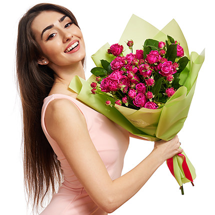 """Bouquet """"5 spray roses"""" - delivery in Ukraine"""
