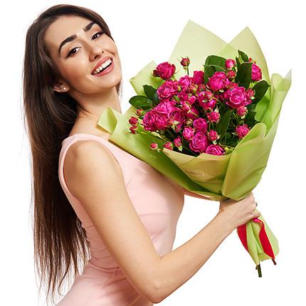 """Букет """"5 кустовых роз"""" - доставка по Украине"""