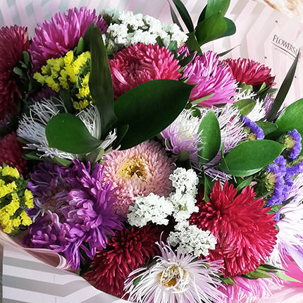 25 colorful asters - order with delivery