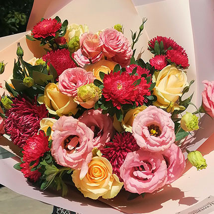 "Author's bouquet ""Autumn rays"" - order with delivery"