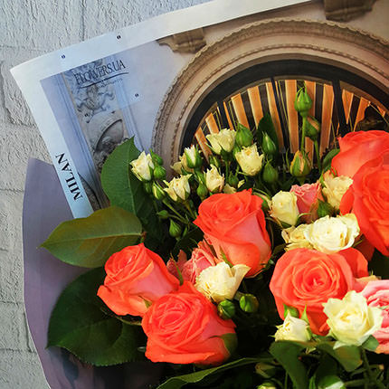 """Author's bouquet """"Coral reef"""" - order with delivery"""