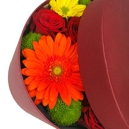 "Flowers in a box ""Beautiful Autumn"" - order with delivery"