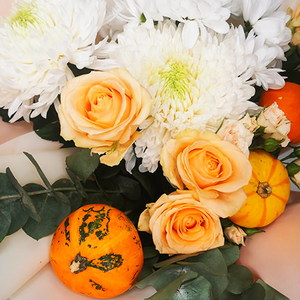 "Author's bouquet ""Pumpkin dessert"" - order with delivery"