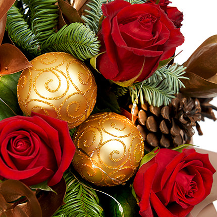 """Bouquet with garland """"New Year's magic"""" - order with delivery"""