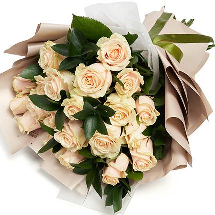 25 кремовых роз - заказать с доставкой