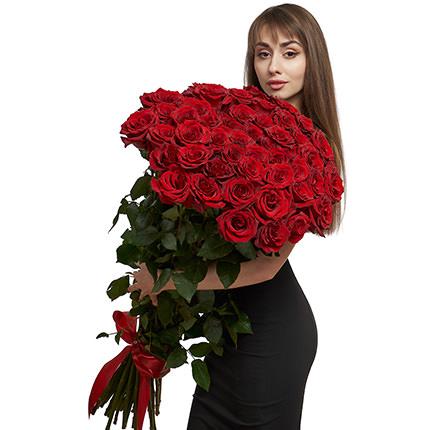 51 красная метровая роза - доставка по Украине