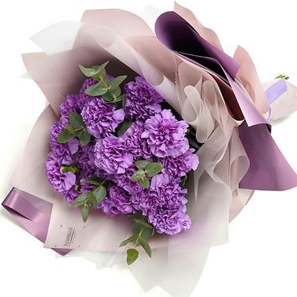"""Букет """"19 фиолетовых гвоздик"""" - заказать с доставкой"""