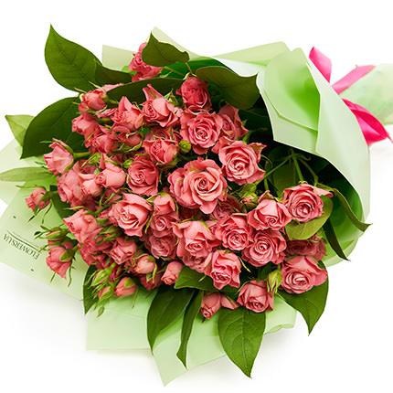Букет кустовых роз  - заказать с доставкой