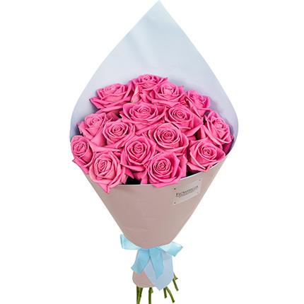 """Букет """"15 рожевих троянд"""" - доставка по Україні"""