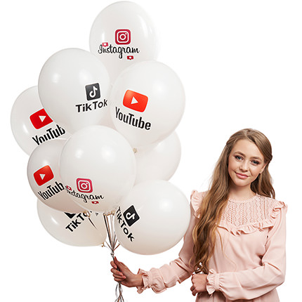 """Collection of balloons """"Best Blogger"""" - 5 balloons - order with delivery"""