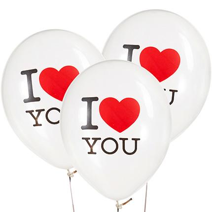 "Коллекция шариков ""I love U"" - 3 шарика - доставка по Украине"