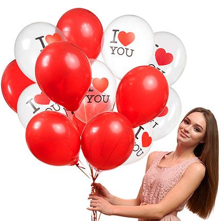 """Колекція кульок """"Люблю"""" - 5 кульок - замовити з доставкою"""