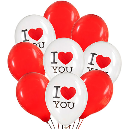 """Collection of balloons """"Love"""" - 9 balloons - delivery in Ukraine"""
