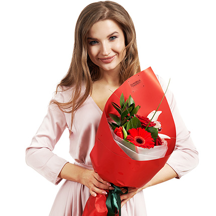 """Bouquet """"For a beautiful woman"""" - delivery in Ukraine"""