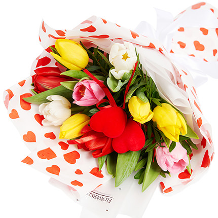 """Bouquet """"Congratulations, with love ...!"""" - order with delivery"""