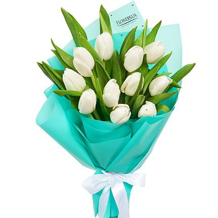 """Букет """"11 белых тюльпанов"""" - заказать с доставкой"""
