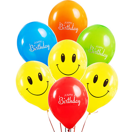 """Collection of balloons """"Happy Birthday"""" - 7 balloons - delivery in Ukraine"""