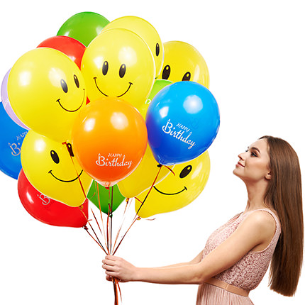 """Collection of balloons """"Happy Birthday"""" - 7 balloons - order with delivery"""
