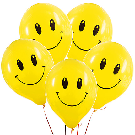 """Collection of balloons """"Smilies"""" - 5 balloons - delivery in Ukraine"""