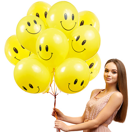 """Collection of balloons """"Smilies"""" - 5 balloons - order with delivery"""