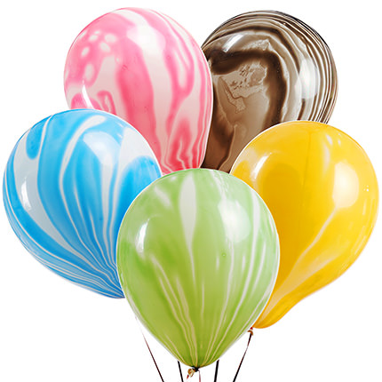 """Collection of balloons """"Multicolored mix"""" - 5 balloons - delivery in Ukraine"""