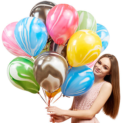 """Collection of balloons """"Multicolored mix"""" - 5 balloons - order with delivery"""