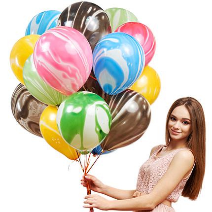 """Коллекция шариков """"Разноцветный микс""""- 9 шариков - заказать с доставкой"""