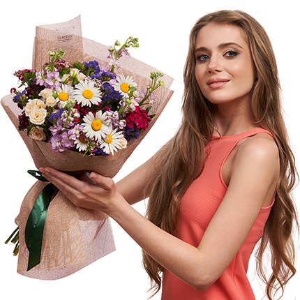 "Bouquet ""Summer field mix"" - delivery in Ukraine"