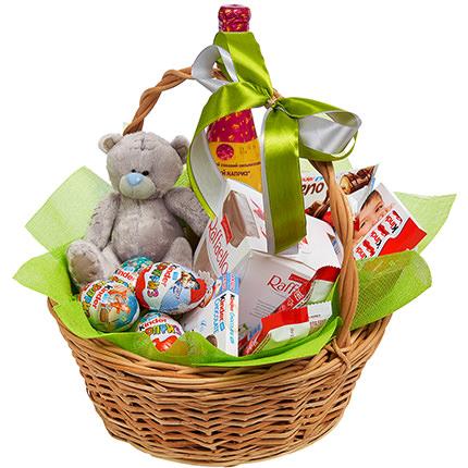 """Подарочная корзина """"Детский праздник!"""" - заказать с доставкой"""