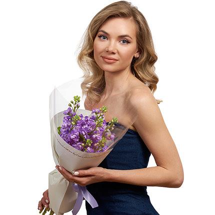 7 гілок ніжної матіоли - доставка по Україні