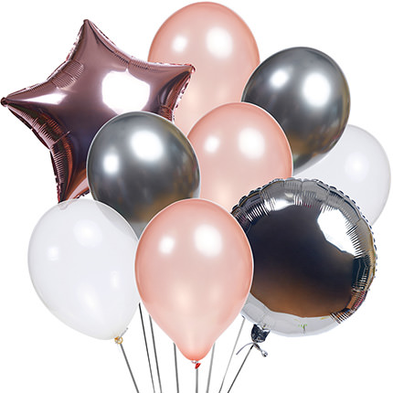 "Коллекция шариков ""Фламинго"" - 9 шариков - доставка по Украине"