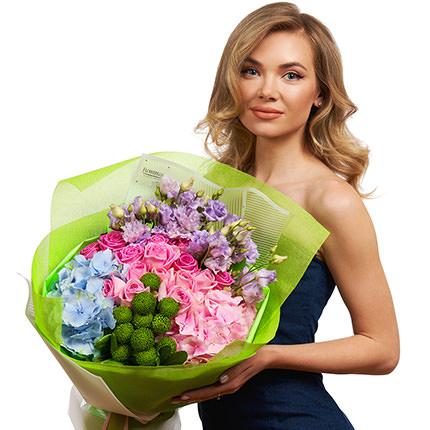 """Summer bouquet """"Assorted Flowers"""" + Raffaello - delivery in Ukraine"""