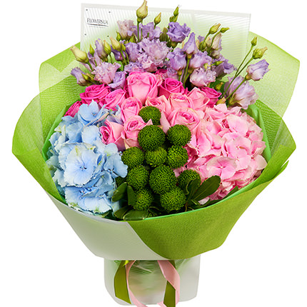 """Summer bouquet """"Assorted Flowers"""" + Raffaello - order with delivery"""