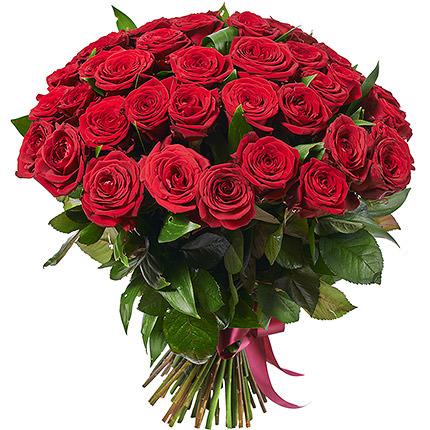 51 червона троянда + Raffaello - замовити з доставкою