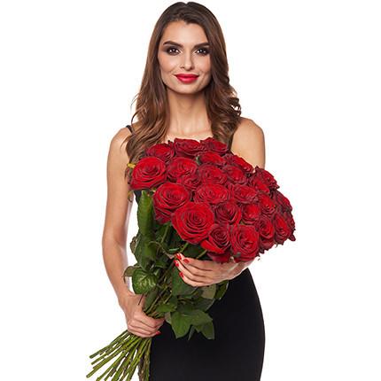 25 красных роз + Raffaello - доставка по Украине