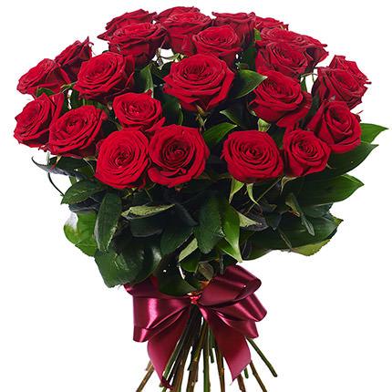 25 красных роз + Raffaello - заказать с доставкой