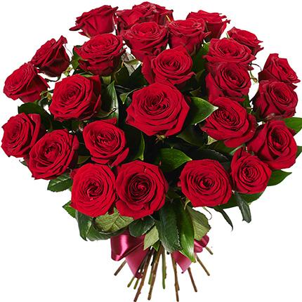 Букет з 25 червоних троянд - доставка по Україні