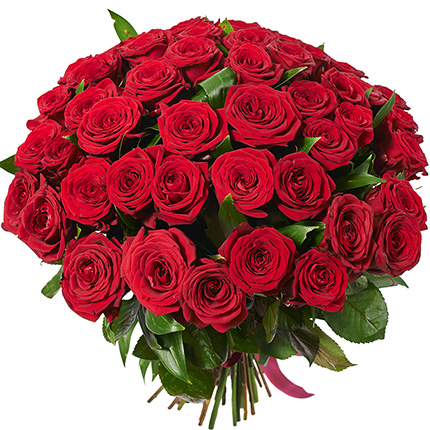 Bouquet of 51 red roses - delivery in Ukraine