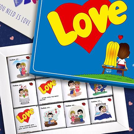 """Шоколадный набор """"Love"""" - заказать с доставкой"""