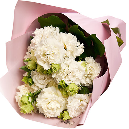 5 branches of white eustoma - order with delivery