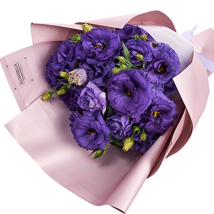 9 веток фиолетовой эустомы - заказать с доставкой