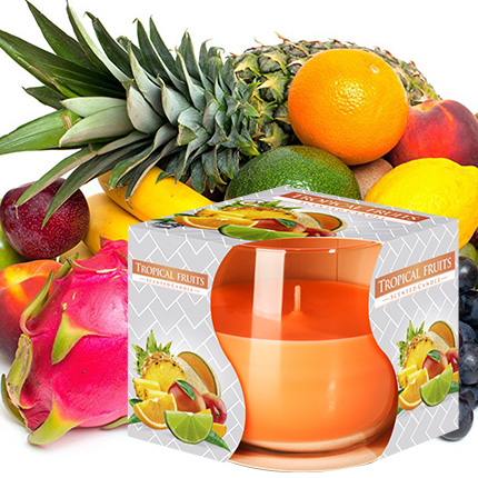 """Single-layer candle """"Tropical fruits"""" - delivery in Ukraine"""