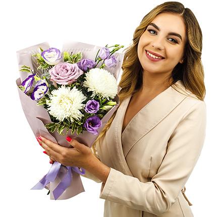 "Autumn bouquet ""Purple mood"" - delivery in Ukraine"