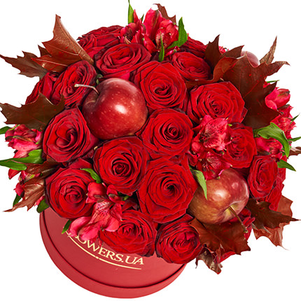 """Flowers in a box """"Flame of love"""" - order with delivery"""