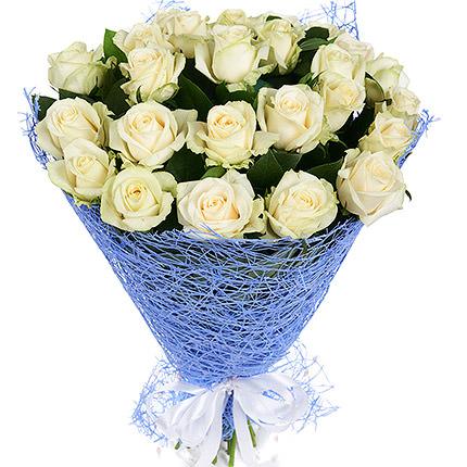 25 белых роз - доставка по Украине