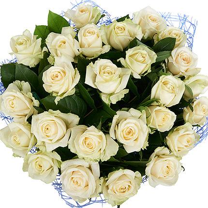 25 белых роз - заказать с доставкой